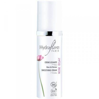 Crème lissante 1 ères rides rose éclat d'Hydraflorerepulpe la peau, lisse les 1ères rides et unifie le teint. Votre peau douce et repulpée retrouvera un nouvel éclat