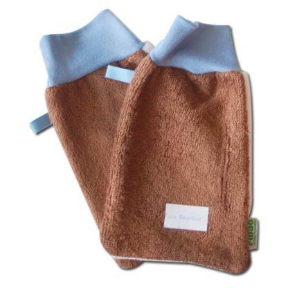 gant démaquillant bambou/microfibre peaux normales à acnéiques