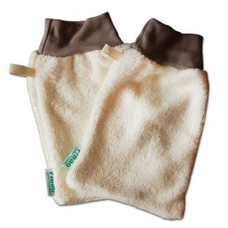 Gant démaquillant en fibre de bambou peaux sensibles