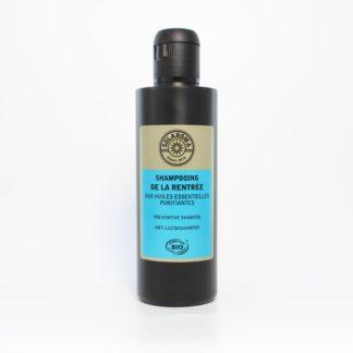 Shampooing de la Rentrée Bio débarrasse toute l'année naturellement et efficacement des poux ainsi que des lentes, au Huiles Essentielles et Hydrolats Bio, Solution anti poux