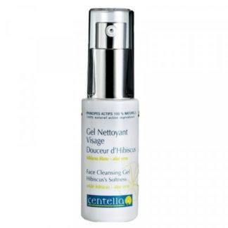 Gel nettoyant visage Douceur d'Hibiscus, sans savon, constitué d'agents lavants et moussants d'origine naturelle et végétale; préserve le PH de la peau