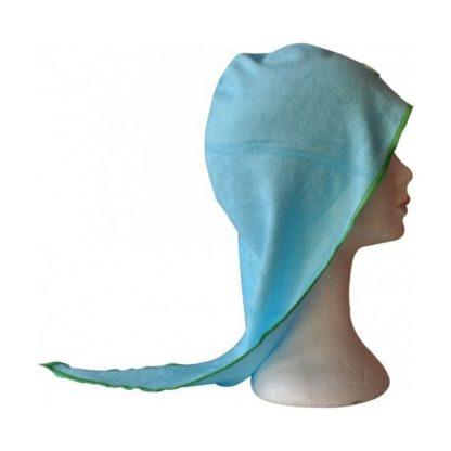 Turban sèche-cheveux en éponge de bambou