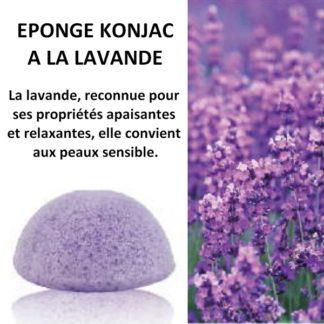 éponge konjac lavande pour les peaux sensibles