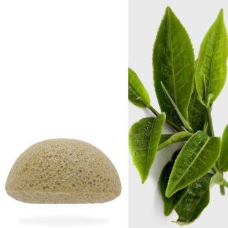 éponge konjac au thé vert pour un nettoyage du visage