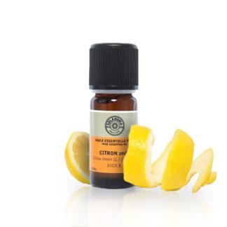 Huile essentielle citron zeste bio; particulièrement connue pour ses propriétés antioxydantes, toniques, détoxifiantes, antiseptiques ainsi que purifiantes