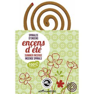 Spirales Encens d'été 100% naturel au parfum délicat vous protégeront des insectes volants; moustique et autres nuisibles. Encens naturel anti moustiques