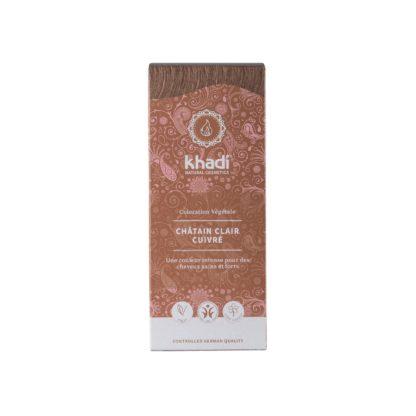 Coloration Végétale Chatain clair Khadi selectionnée pour vous est avant tout le fruit de préparations ayurvédique ancestrales; Vegan et respect des cheveux