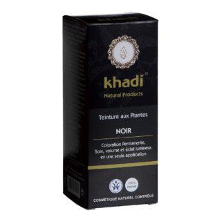Coloration Végétale Noir Khadi selectionnée pour vous est avant tout le fruit de préparations ayurvédique ancestrales, couvre les chevelures blanches