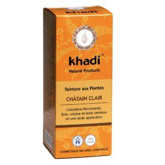 Coloration Végétale Chatain clair Khadi selectionnée pour vous est avant tout le fruit de préparations ayurvédique ancestrales; Vegan et respect des cheveux pour un résultat parfait.