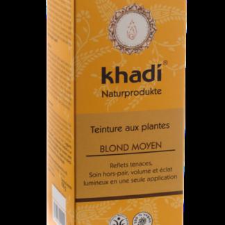 La Coloration Végétale Blond moyen Khadi selectionnée pour vous s'applique sur les cheveux blonds et, ou blancs. Teinture aux plantes ayurvédique vegan