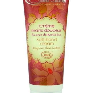 Crème mains douceur Couleur caramel au beurre de Karité bio est spécialement formulée pour les peaux normales à sèches. Composants bio vegan