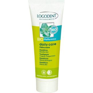 Dentifrice Daily Care fraîcheur naturelle à la menthe bio sans fluor ni conservateurs de synthèse. Nettoie en douceur les dents-Vegan-Hygiène bucco dentaire
