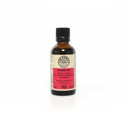 L'huile Dermasol de Soaloma est un soin du coprs bio, aux arômes fleuris et aux doux accents de miel. Excellente contre les problèmes de peau. Il contient de nombreuses huile essentielle biologique qui sont antiseptiques, antibactériennes, antifongiques, antivirales et anti-inflammatoires