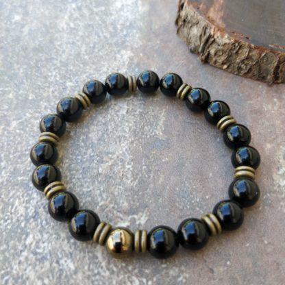 Bracelet Obsidienne œil Céleste protège et favorise le Sommeil. Chaque Bracelet est une pièce unique fait main créé par Marla pour Manohi