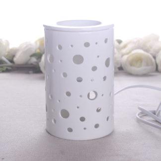 Diffuseur d'Huile essentielle en céramique par chaleur douce Calorya. Diffuse vos huiles essentielles ainsi que les cires parfumées et les parfums d'ambiance